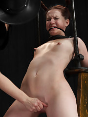 Pig earns her title by her uncontrollable snorting laughter when tormented with tickling. Watch this bitch suffer with relentless bondage orgasms.