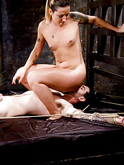 Fiona and Claire double team slave boy