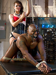 Mistress Bobbi Starr is the evilest dominatrix Bitch bringing a grown man to tears with her sexy electricity and tease and denial.