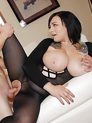 Big Tits in Pantyhose