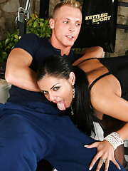 Cory Everson gets filled with cock and balls