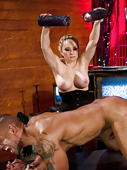 Goddess Aiden Starr trains hot, muscle bound slave in the art of being a human dildo for the Divinest women in the world.