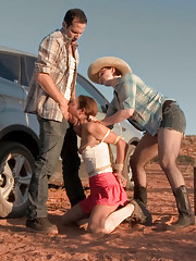 Cute Amber hitchhikes a ride from Maestro and Claire. Too late to turn back, she becomes a pawn in this sadistic couple