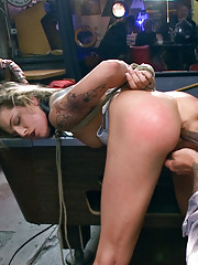 Hot blonde fisted for the first time ever, dp
