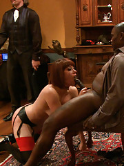 Big Tit slave Bella Rossi applies for a position on the Upper Floor