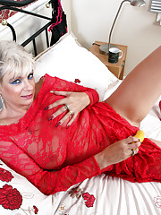 Anilos Dimonte pleasures herself with a sex toy