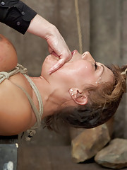 Horny MILF Ava wants it so bad she is willing to do anything Claire wants to get off. Tight breast bondage and intense orgasms are only the start...