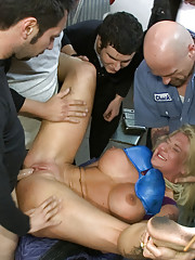 Big tittied blonde has her limits pushed in public. Groped and smacked by strangers, pounded in her tight cunt, and used to mop the floor!