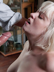 Submissive wife ass fucked in sexual servitude.