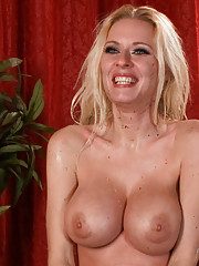 Bombshell Riley Evans has her huge tits tied and is molested by a horny party while helpless and bound