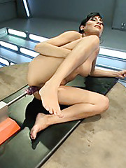 Anal, Pussy Fucking with machines, Bondage, hot girl getting pounded and stretched by robots!
