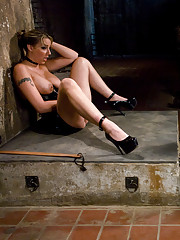 Delilah Strong trains man meat to crawl