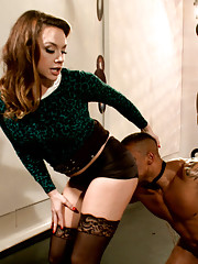 Mistress Chanel Preston puts gorgeous muscle man through punishment, OTK spanking,  humiliation and turns him into a human vibrator for her pleasure!
