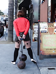Innocent girl next door Jodi Taylor is bound in unforgiving steel and shocked in public. Ass fucked, humiliated, left for strangers to fuck.