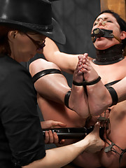 Andy cums back to Device & is subjected to heavy breath control scenes, heavy face slapping and deep throating, cruel labia clamps, & amazing orgasms!
