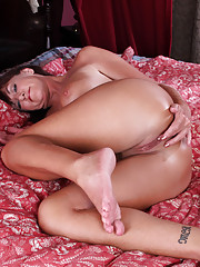 Horny Joann Adams gives her pussy a sweet finger fuck