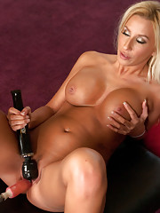 Happy Friday -Bonus machine shag of hot tanned blonde babe who is brand new to porn & can