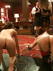 Gorgeous slaves used for entertainment at the Upper Floor Brunch