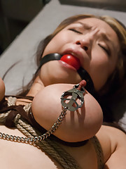 Big nature tits Asian girl gets rough sex and bondage from medical research.