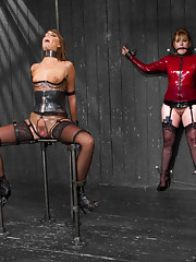 Cassandra Nix endures a no holds live show with intense and creative pain play, humiliation and cruel verbal, squirting orgasms, and crazy bondage!
