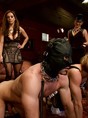 EXTREME FEMDOM HUMILIATION with live sissification with bisexual humiliation, extreme pegging and whipping.