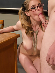 Princess Penny cuckolds her teacher in front of the class & making him suck cock then taking her boyfriends load in his face after she fucks!