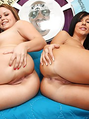 Two hot young white sluts are up for the challenge of fuckin' a freak sized black cock