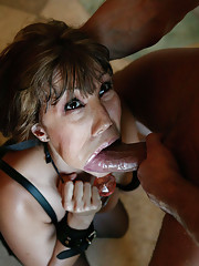 Gorgeous MILF slut roped and fucked into oblivion