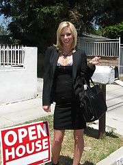 MILF whore gets fucked on the day of OPEN HOUSE and humiliated!