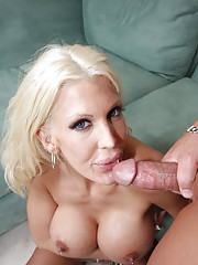 Horny slut with big boobs shows big love for the cock