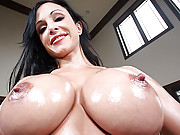 Dirty whore with magnificent fuckable boobs gets boned so hard