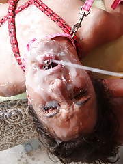 Cum-hungry slut gets the facial orgy of her life