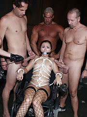 Dungeon disgrace session drenches Kita in Cum!
