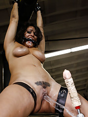 Gushing whore fucked in garage!