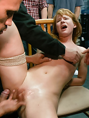 True submissive and anal whore, Claire Robbins, is pussy clamped, clothes pinned, flogged and fucked all over this haberdasher!! Claire is doubly pene