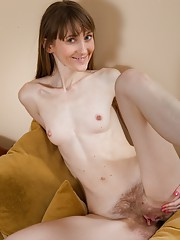 Gela loves her hairy pussy and high heels