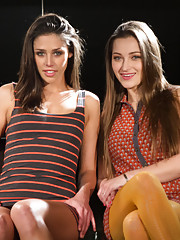 2 sexy lingerie models, Dani Daniels and Ana Morna are dominated, punished and fucked by Maitresse Madeline.
