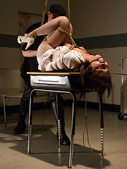 Marica Hase stars in a HogTied BDSM Fantasy Feature where she is prey to a sexually violent predator - subject to sick and twisted sex games.