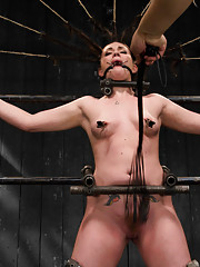 Andy San Dimas submits to Orlando in a no holds live show with intricate metal bondage, heavy sensory dep & breath play, INTENSE orgasms, & caning!