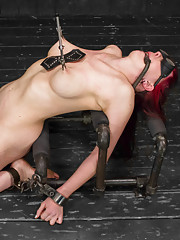 Nerine is no novice so Clair gives her 3 challenging positions. This pain slut takes it all: The cane, single-tail, clamps, hard fucking and more!