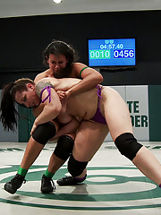 Kara gives Penny an opportunity to make up for being such an Ultimate loser by challenging Penny to a submission wrestling match.