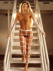 Susie Owens, Miss March 1988, takes flight as Flaxen. From May 1993�