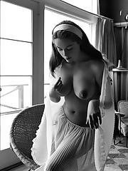 MARGUERITE EMPEY  Miss May 1955     Hal Adams photographed Marguerite, a California model and nudist, in what turned out to be the first of two appearances as a Playmate. Author Gay Talese interviewed her -- under he�