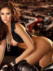 Jaclyn Swedberg has dodged mortar fire while playing war games in the Mojave Desert. She has sped around in a rally car like Danica Patrick. And she has hung 10 in the ocean blue au naturel. I