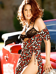 World travelers may recognize this fabulously beautiful woman. Her name is Giuliana Marino, and she is German Playboy