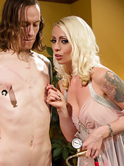 Lorelei Lee turns slaveboy into a sissy slut to be used at a party full of dominatrix & fucks his sissy pussy until there