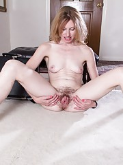 Lacey loves to show her hairy pussy and body
