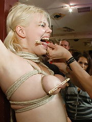 Alice Frost takes pain and cock in public to prove herself worthy of being Princess Donna