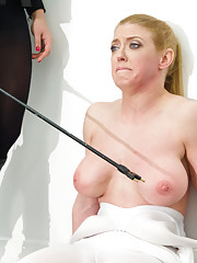 Darling plays role of ELECTRO 4197 where she is viciously shocked inside & tied up in lesbian bondage until she is proven to be a malfunctioning unit.