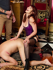 The most brutal cuckold film ever made with Maitresse Madeline getting fucked hard by her bull!